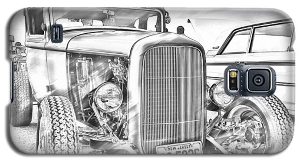 Hot Rod Faux Sketch Galaxy S5 Case