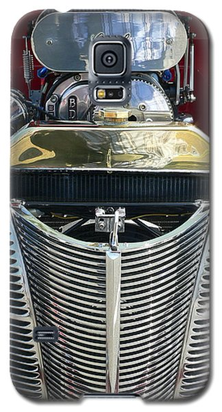 Galaxy S5 Case featuring the photograph Hot Rod Polished Steel Engine And Grill by Jeff Lowe