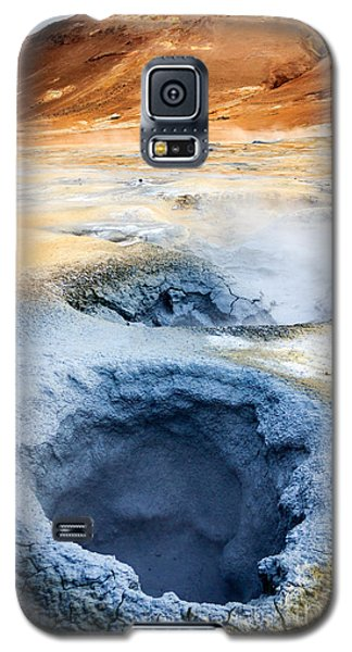 Galaxy S5 Case featuring the photograph Hot Springs At Namaskard In Iceland by Peta Thames