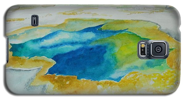 Galaxy S5 Case featuring the painting Hot Springs Yellowstone National Park by Geeta Biswas
