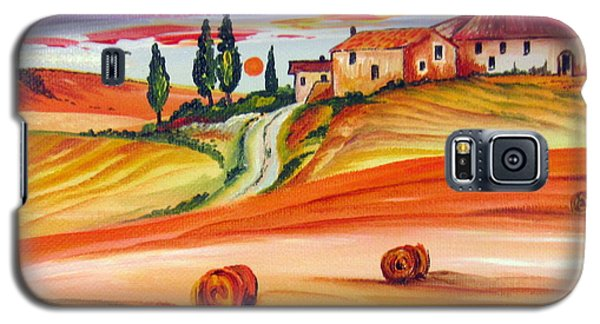 Hot Summer Tuscany Sunset Galaxy S5 Case by Roberto Gagliardi