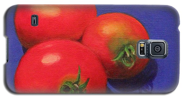 Galaxy S5 Case featuring the painting Hot Tomatoes by Janet Greer Sammons