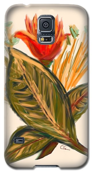 Galaxy S5 Case featuring the digital art Hot Tulip Spring by Christine Fournier