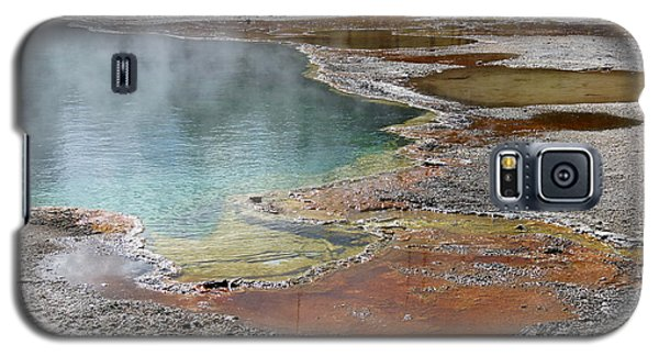 Galaxy S5 Case featuring the photograph Hot Water At Yellowstone by Laurel Powell