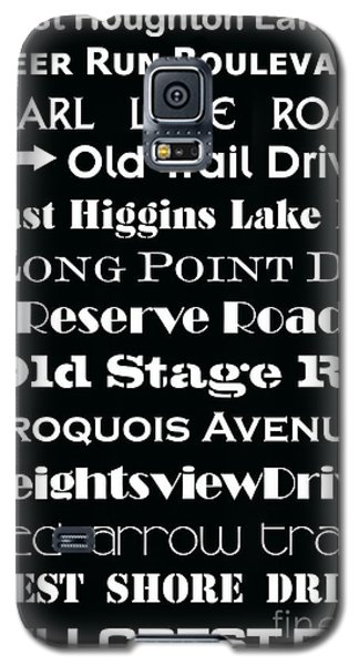 Houghton Higgins Subway Sign Galaxy S5 Case by Desiree Paquette