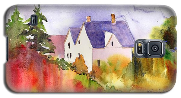 Galaxy S5 Case featuring the painting House In The Country by Yolanda Koh