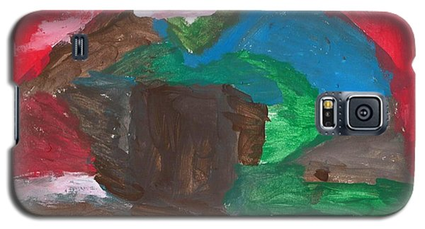 Galaxy S5 Case featuring the painting House In The Hills by Artists With Autism Inc