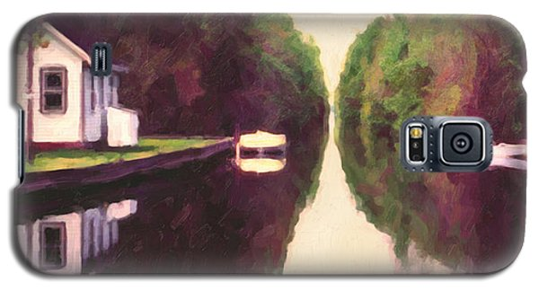 Galaxy S5 Case featuring the painting House On The C And O Canal by Spyder Webb