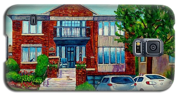 House Portrait-house  Art-commissioned  Montreal Paintings-carole Spandau Galaxy S5 Case