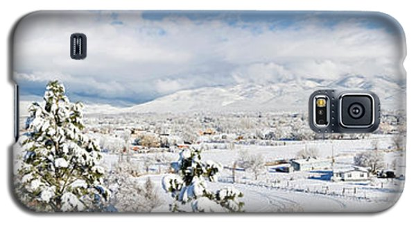 Sangre De Cristo Galaxy S5 Case - Houses And Trees Covered With Snow by Panoramic Images