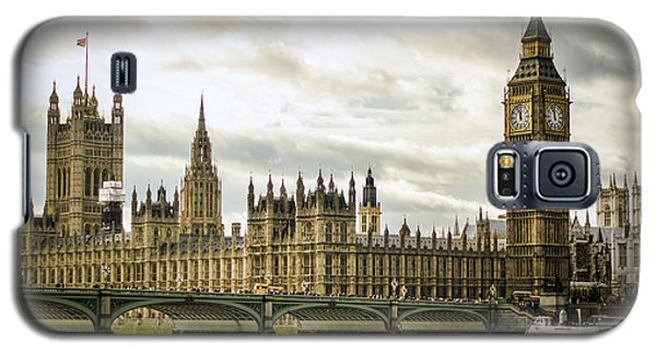 Houses Of Parliament On The Thames Galaxy S5 Case by Heather Applegate