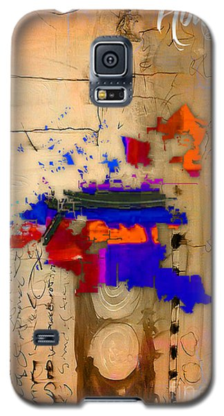Houston Map Watercolor Galaxy S5 Case by Marvin Blaine