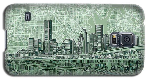 Houston Skyline Abstract 2 Galaxy S5 Case