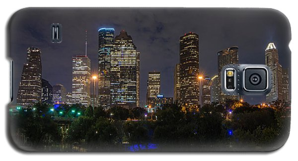 Houston Skyline At Night Galaxy S5 Case