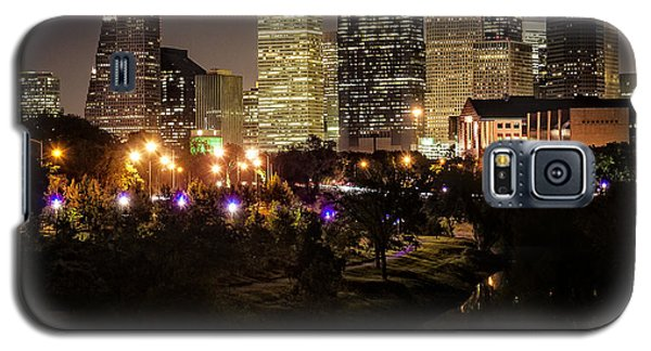 Houston Skyline From Buffalo Bayou Galaxy S5 Case by Andy Crawford