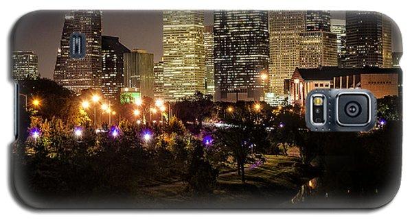Houston Skyline From Buffalo Bayou Galaxy S5 Case