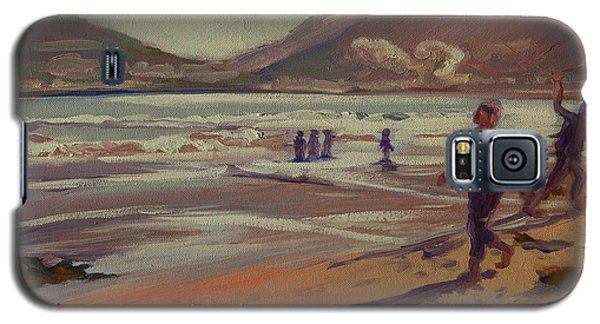 Galaxy S5 Case featuring the painting Hout Bay Beach Sunset by Thomas Bertram POOLE