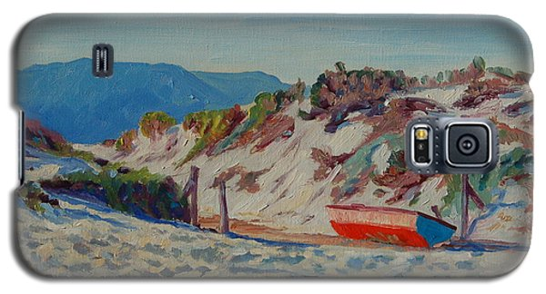 Galaxy S5 Case featuring the painting Hout Bay Beach With Table Mountain by Thomas Bertram POOLE