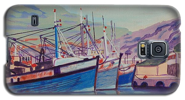 Galaxy S5 Case featuring the painting Hout Bay Fishing Boats by Thomas Bertram POOLE