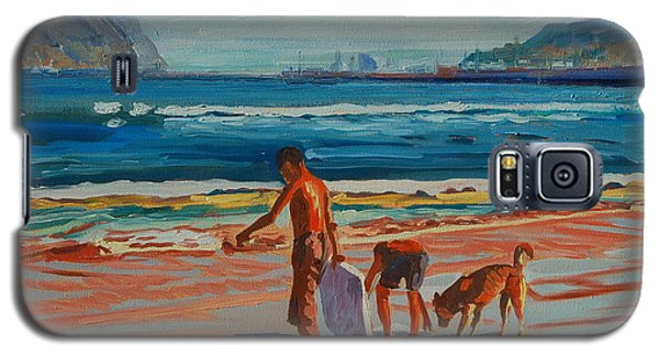 Galaxy S5 Case featuring the painting Hout Bay Trio by Thomas Bertram POOLE