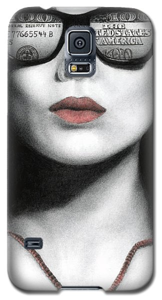 Galaxy S5 Case featuring the painting How Do I Love Thee...let Me Count Your Money by Pat Erickson