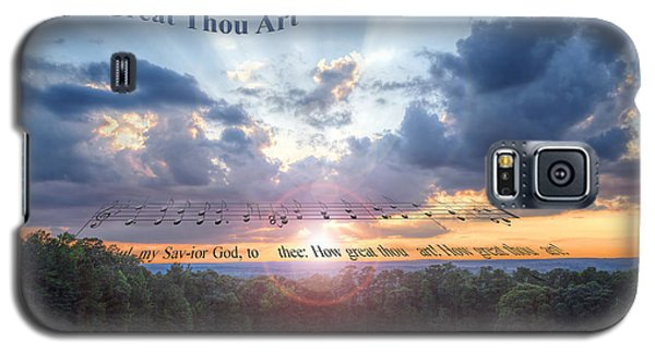 How Great Thou Art Sunset Galaxy S5 Case