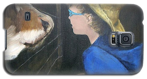 Galaxy S5 Case featuring the painting How Now...? by Mary Lynne Powers