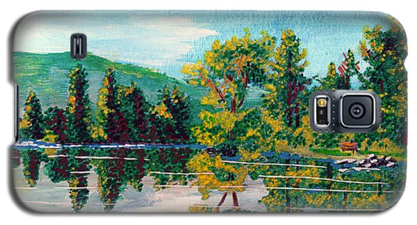 Galaxy S5 Case featuring the painting Howarth Park by Denise Deiloh