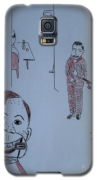Galaxy S5 Case featuring the drawing Howdy Lee And Me by Bill OConnor