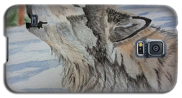 Howling Wolf In Winter Galaxy S5 Case