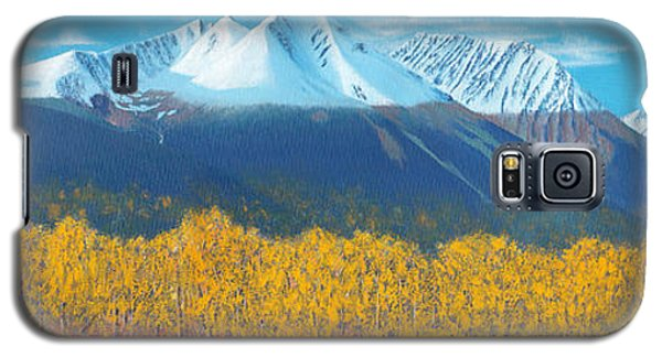 Galaxy S5 Case featuring the painting Hudson Bay Mountain by Stanza Widen
