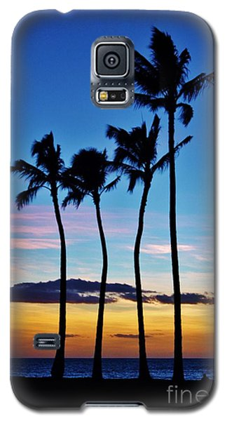 Galaxy S5 Case featuring the photograph Hula Palms At Sunset by Craig Wood