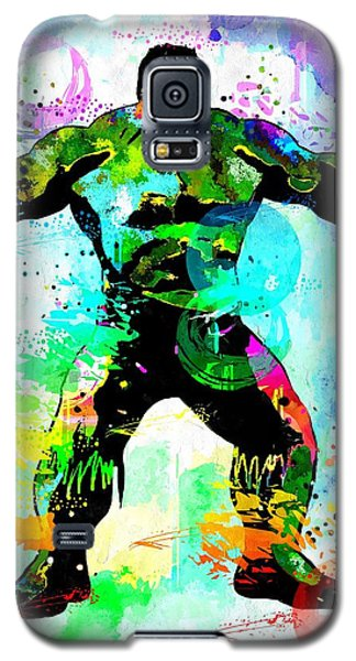 Hulk Watercolor Galaxy S5 Case by Daniel Janda