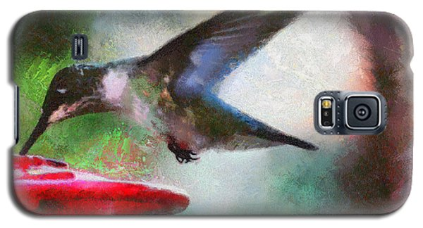 Galaxy S5 Case featuring the painting Humming Bird Thirst by Wayne Pascall