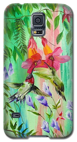 Humming Birds Feeding Galaxy S5 Case