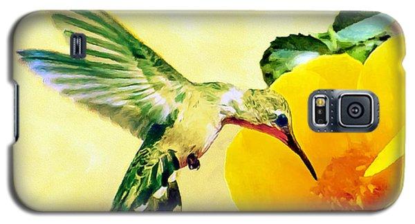 Hummingbird And California Poppy Galaxy S5 Case