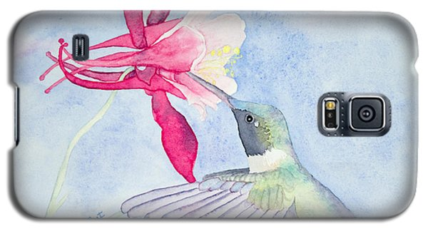 Hummingbird And Columbine Galaxy S5 Case