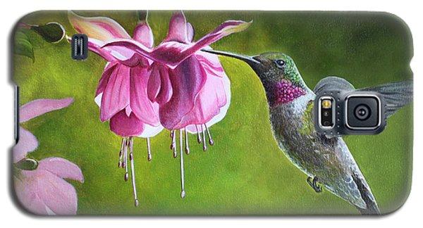 Hummingbird And Fuschia Galaxy S5 Case