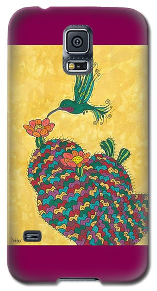 Hummingbird And Prickly Pear Galaxy S5 Case by Susie Weber