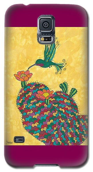 Hummingbird And Prickly Pear Galaxy S5 Case