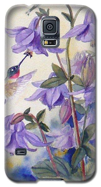 Hummingbird And Purple Columbine Galaxy S5 Case