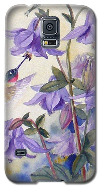 Hummingbird And Purple Columbine Galaxy S5 Case