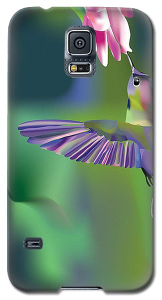 Galaxy S5 Case featuring the digital art Hummingbird by Arline Wagner