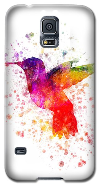 Hummingbird In Color Galaxy S5 Case by Aged Pixel