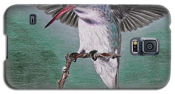 Galaxy S5 Case featuring the drawing Hummingbird by Kume Bryant