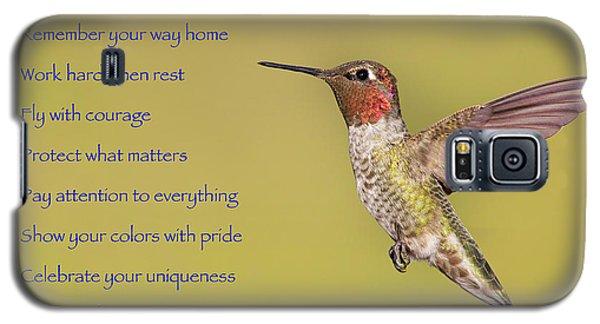 Hummingbird Wisdom Galaxy S5 Case