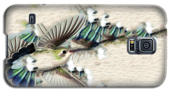 Hummingbird With Happy Feet Galaxy S5 Case by Gregory Scott