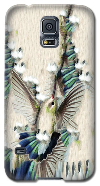 Galaxy S5 Case featuring the photograph Hummingbird With Happy Feet - Phone Case by Gregory Scott
