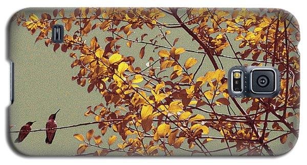 Hummingbirds On Yellow Tree Galaxy S5 Case