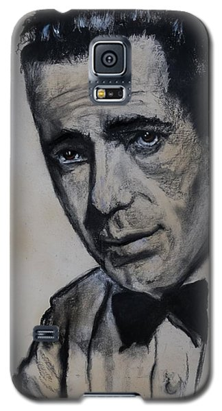 Galaxy S5 Case featuring the drawing Humphrey Deforest Bogart -1  by Eric Dee